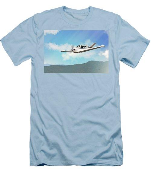 Beechcraft Bonanza V Tail Men's T-Shirt (Athletic Fit)