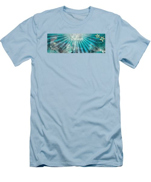 Men's T-Shirt (Slim Fit) featuring the painting Believe By Sherri Of Palm Springs by Sherri Of Palm Springs