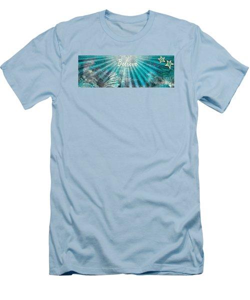 Believe By Sherri Of Palm Springs Men's T-Shirt (Slim Fit) by Sherri's Of Palm Springs