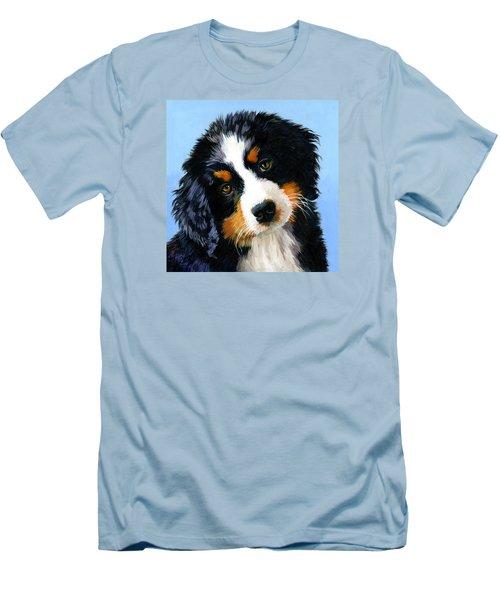 Bernese Mountain Puppy Men's T-Shirt (Slim Fit) by Alice Leggett