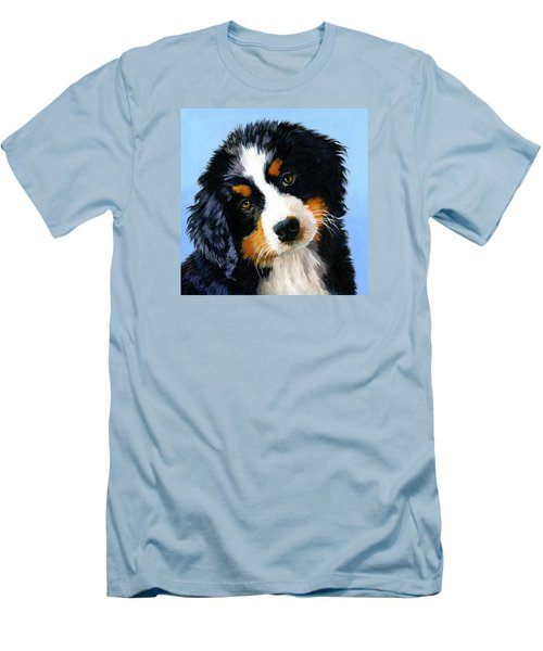 Bernese Mountain Puppy Men's T-Shirt (Athletic Fit)