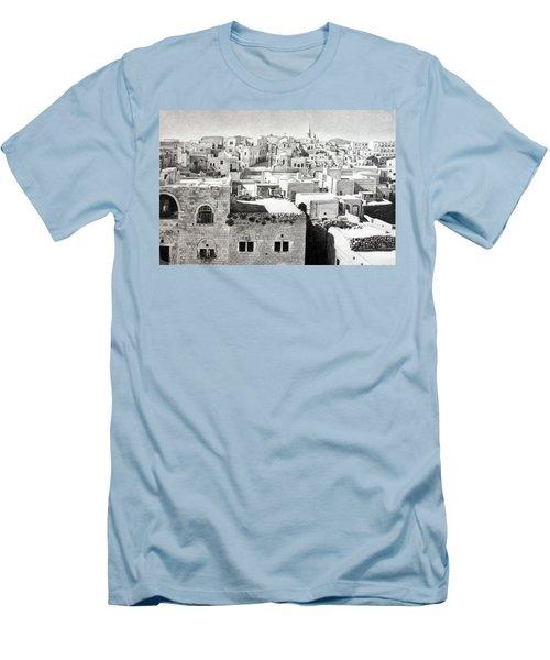 Bethlehem Old Town Men's T-Shirt (Slim Fit) by Munir Alawi
