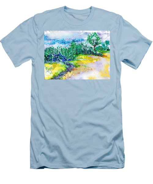 Men's T-Shirt (Slim Fit) featuring the drawing Beyond The Clouds by Seth Weaver
