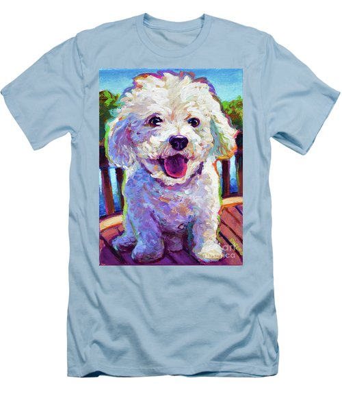 Men's T-Shirt (Slim Fit) featuring the painting Bichon Frise by Robert Phelps