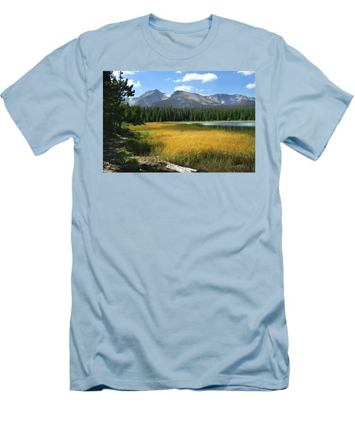 Men's T-Shirt (Slim Fit) featuring the photograph Autumn At Bierstadt Lake by David Chandler