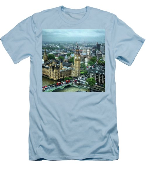 Big Ben From The London Eye Men's T-Shirt (Slim Fit)