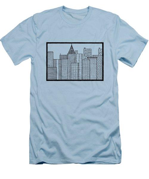 Big City Men's T-Shirt (Slim Fit) by Konstantin Sevostyanov