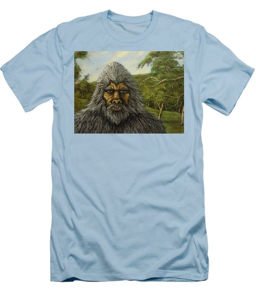 Men's T-Shirt (Slim Fit) featuring the painting Big Foot In Pennsylvania by James Guentner