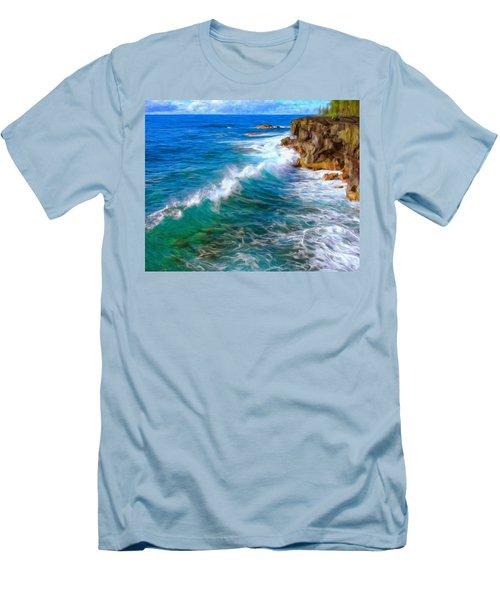 Big Sur Coastline Men's T-Shirt (Athletic Fit)