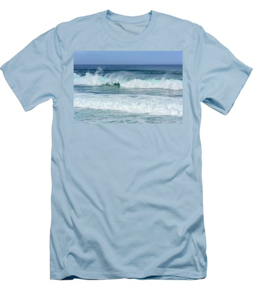 Men's T-Shirt (Slim Fit) featuring the photograph Big Waves by Marion McCristall