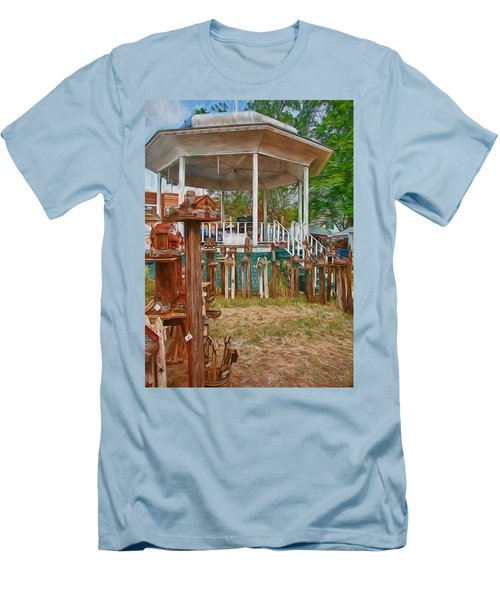 Men's T-Shirt (Slim Fit) featuring the photograph Bird Houses by Trey Foerster