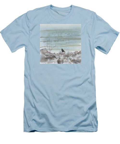 Bird On The Shore Men's T-Shirt (Slim Fit) by Carolyn Doe