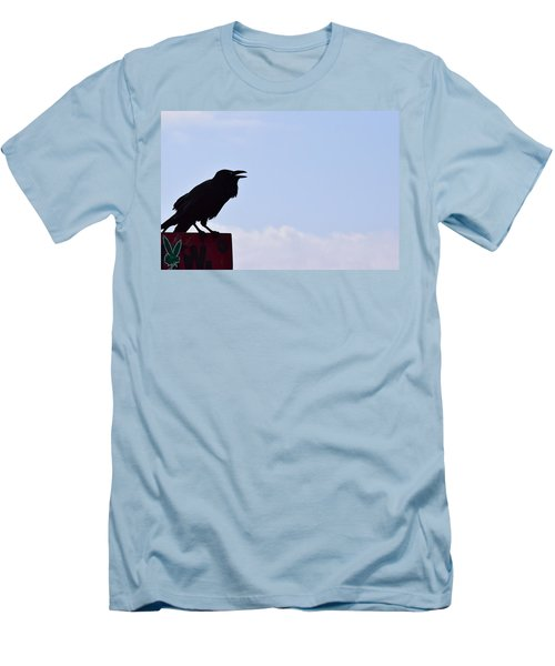 Crow Profile Men's T-Shirt (Slim Fit) by Sandy Taylor