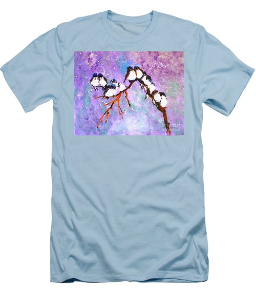 Bird Snowfall Limited Edition Print 1-25 Men's T-Shirt (Athletic Fit)