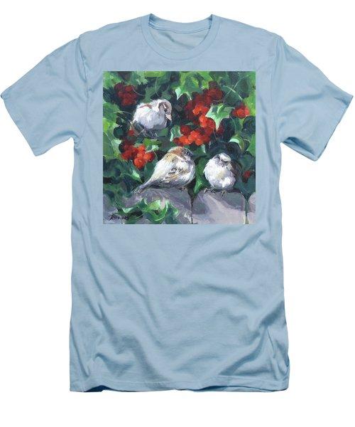 Bird Watching Men's T-Shirt (Slim Fit) by Karen Ilari