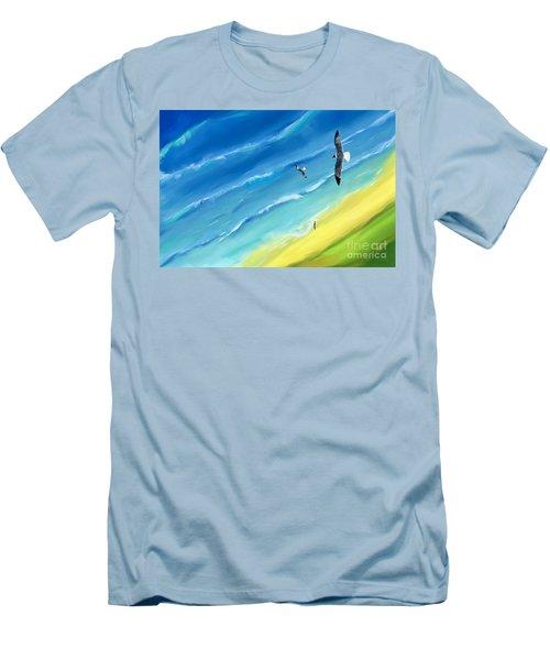 Bird's-eye Above Sea Men's T-Shirt (Athletic Fit)