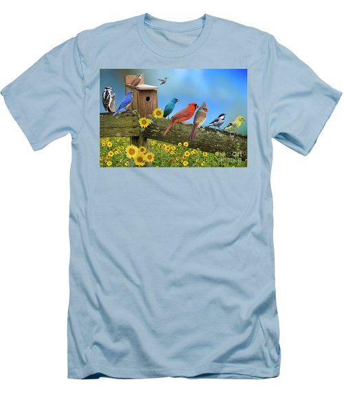 Birds Of A Feather Men's T-Shirt (Slim Fit) by Bonnie Barry