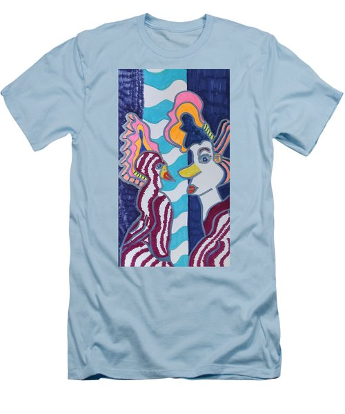 Birds Of A Feather Men's T-Shirt (Slim Fit) by Don Koester