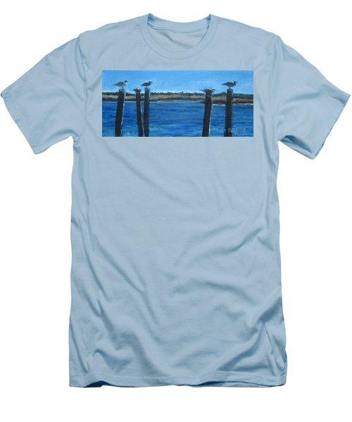 Bivalve Seagulls Men's T-Shirt (Athletic Fit)