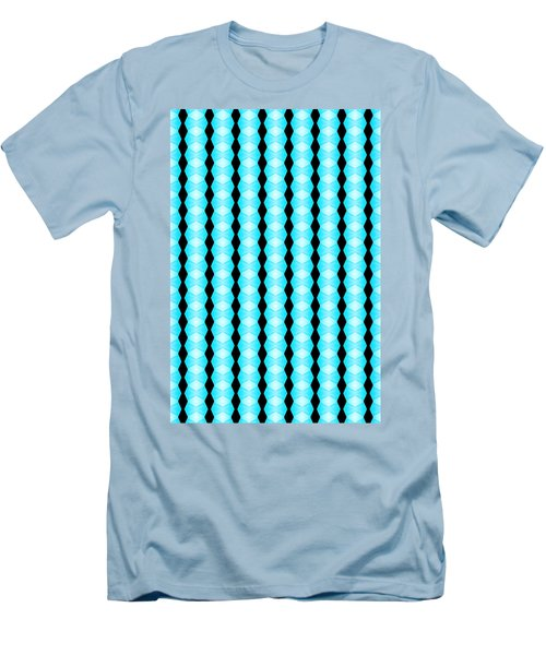Black And Blue Diamonds Men's T-Shirt (Athletic Fit)