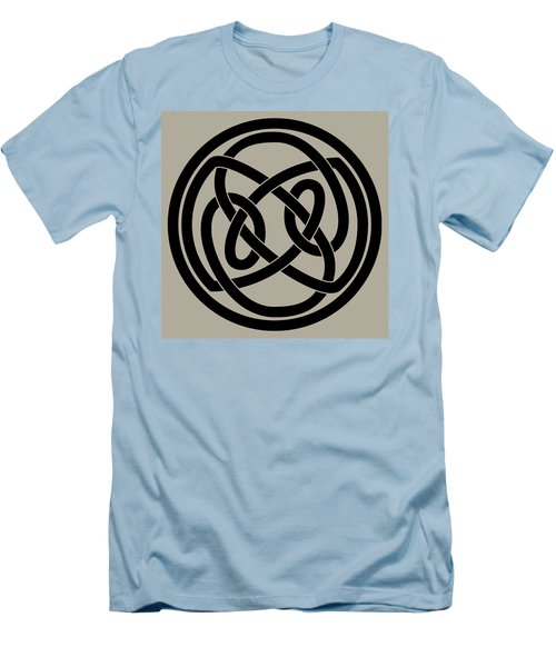 Men's T-Shirt (Slim Fit) featuring the digital art Black Celtic Knot by Jane McIlroy