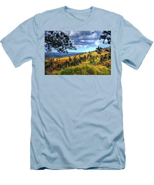 Black Hills Autumn Men's T-Shirt (Slim Fit) by Fiskr Larsen