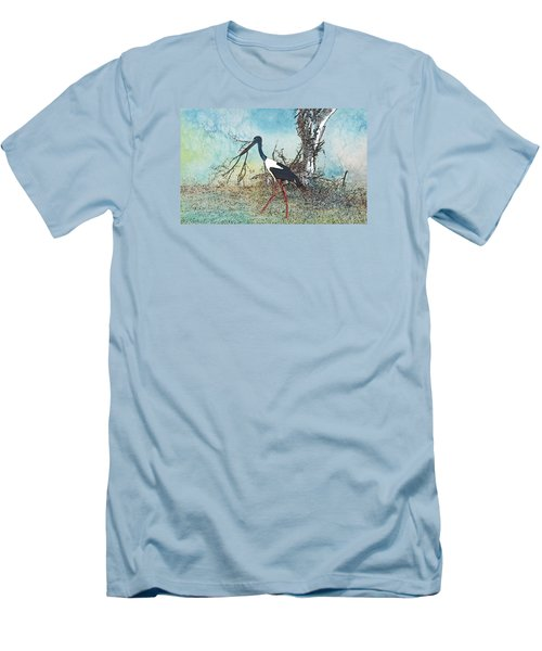 Black Neck Stork  Men's T-Shirt (Athletic Fit)