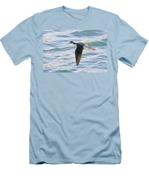 Black-necked Stilt 8 Men's T-Shirt (Athletic Fit)