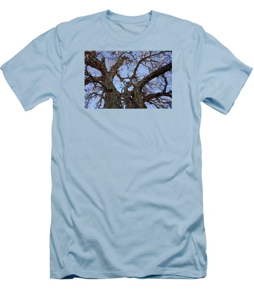 Men's T-Shirt (Slim Fit) featuring the painting Black Oaks by Mark Greenberg