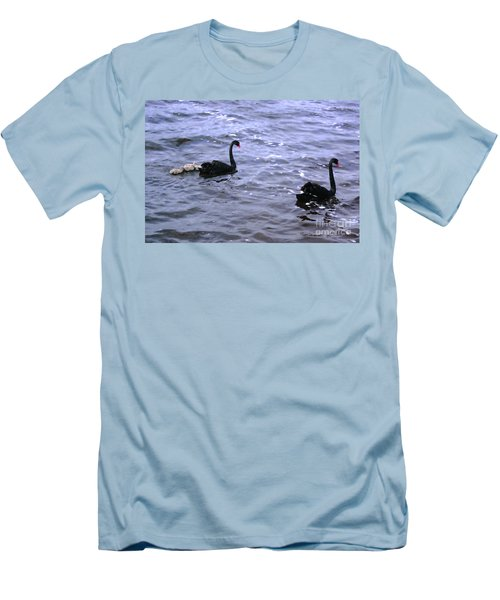 Black Swan Family Men's T-Shirt (Athletic Fit)