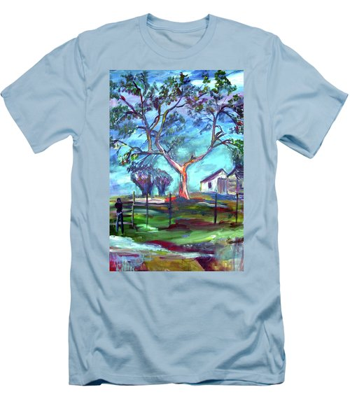 Blanco Texas Ranch House Men's T-Shirt (Athletic Fit)