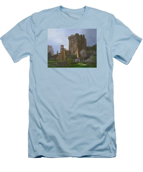 Men's T-Shirt (Slim Fit) featuring the painting Blarney Castle by LaVonne Hand