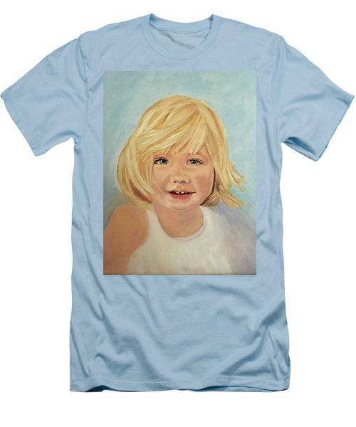 Blondie Men's T-Shirt (Slim Fit) by Sharon Schultz