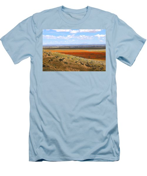 Blooming Season In Antelope Valley Men's T-Shirt (Slim Fit) by Viktor Savchenko