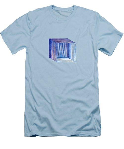 Blue Box Sitting Men's T-Shirt (Slim Fit) by YoPedro