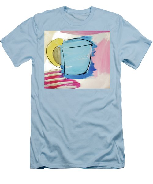 Blue Coffee Mug Men's T-Shirt (Slim Fit) by Amara Dacer