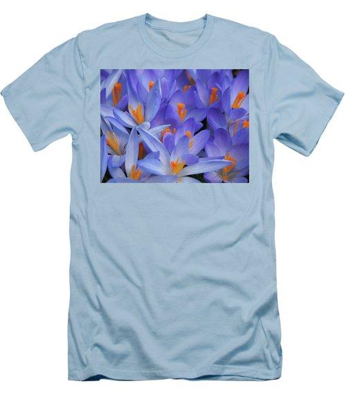 Blue Crocuses Men's T-Shirt (Athletic Fit)
