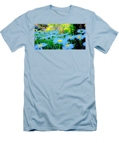 Blue Daisy Men's T-Shirt (Athletic Fit)