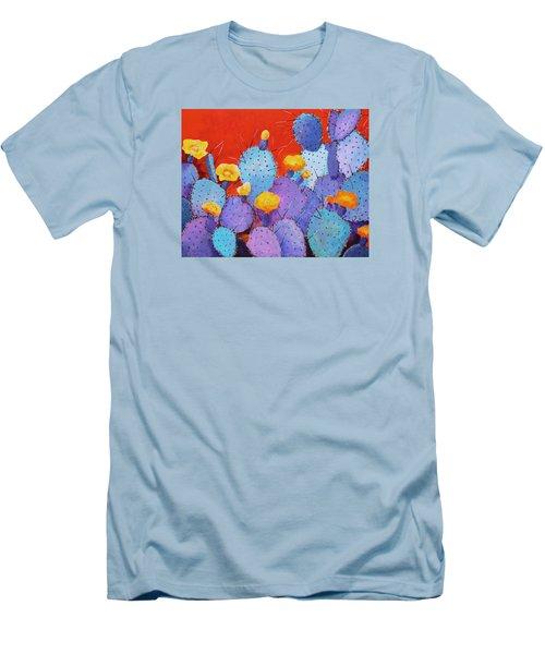 Blue Flame Companion 1 Men's T-Shirt (Slim Fit) by M Diane Bonaparte