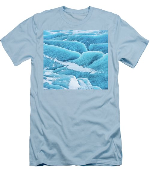 Men's T-Shirt (Slim Fit) featuring the photograph Blue Ice Svinafellsjokull Glacier Iceland by Matthias Hauser