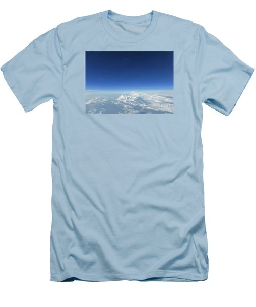 Blue In The Sky Men's T-Shirt (Slim Fit) by AmaS Art