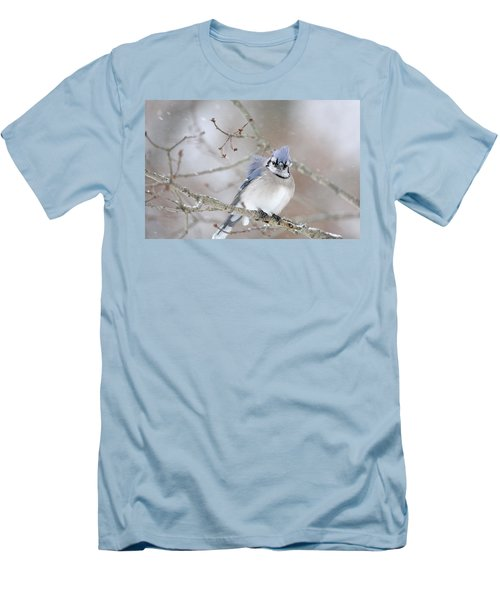 Blue Jay In A Blizzard Men's T-Shirt (Athletic Fit)