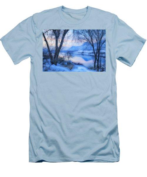 Blue Landscape Men's T-Shirt (Athletic Fit)