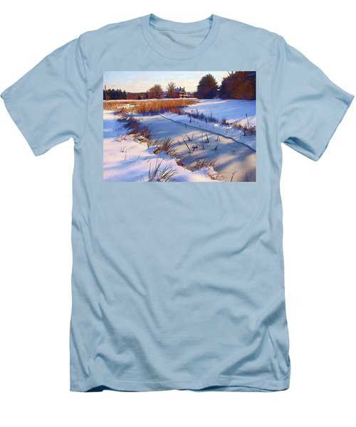 Blue Noon Men's T-Shirt (Slim Fit) by Betsy Zimmerli