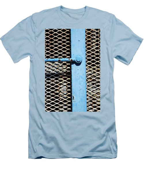 Men's T-Shirt (Slim Fit) featuring the photograph Blue On White by Karol Livote