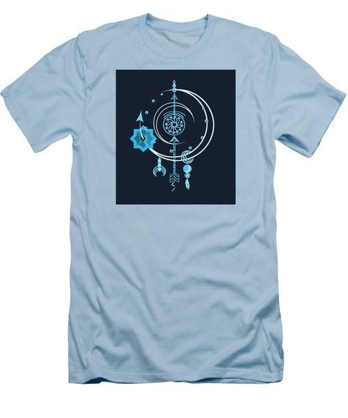 Men's T-Shirt (Slim Fit) featuring the digital art Blue Point by Deborah Smith