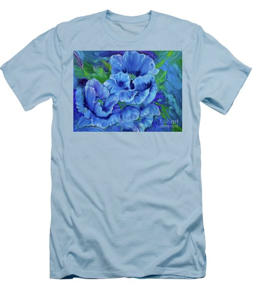 Blue Poppies 11 Men's T-Shirt (Athletic Fit)