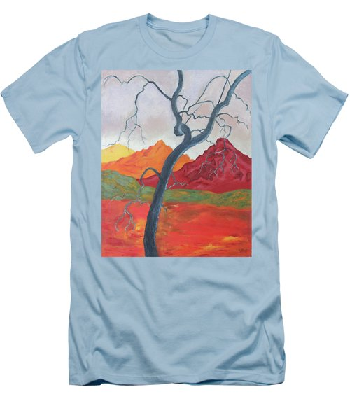 Blue Retama Men's T-Shirt (Athletic Fit)