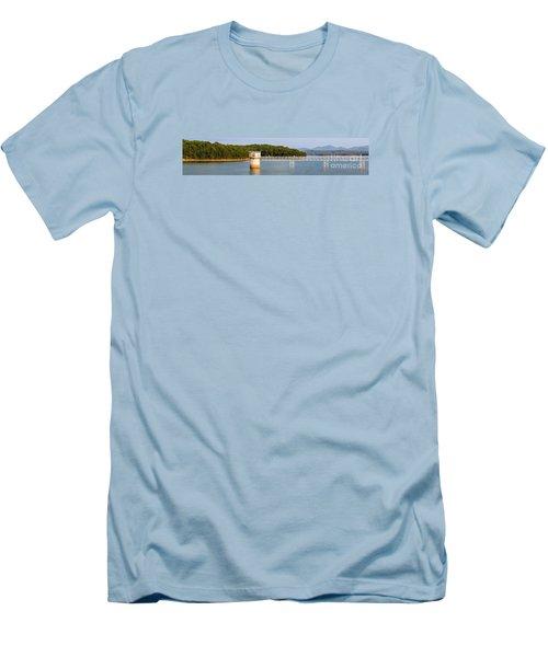 Blue Ridge Dam - Panoramic Men's T-Shirt (Athletic Fit)