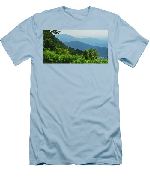 Blue Ridge Mountain Layers Men's T-Shirt (Athletic Fit)